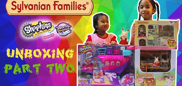 Sylvanian Families and Shopkins Jet Unboxing Video Part Two